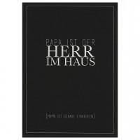 "Herren Postkarte ""Herr im Haus"""