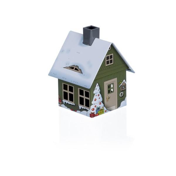 Räucherhaus Weihnachtsmotiv