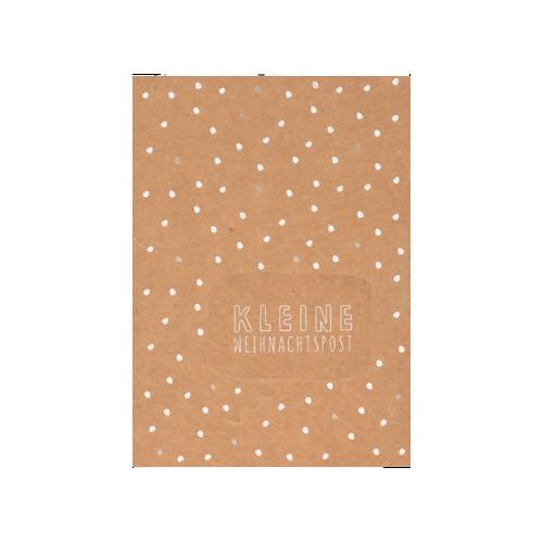 Sprechblasen Postkarte kleine Weihnachtspost