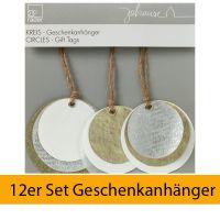 """Geschenkanhänger """"Kreis"""" 12er Set"""