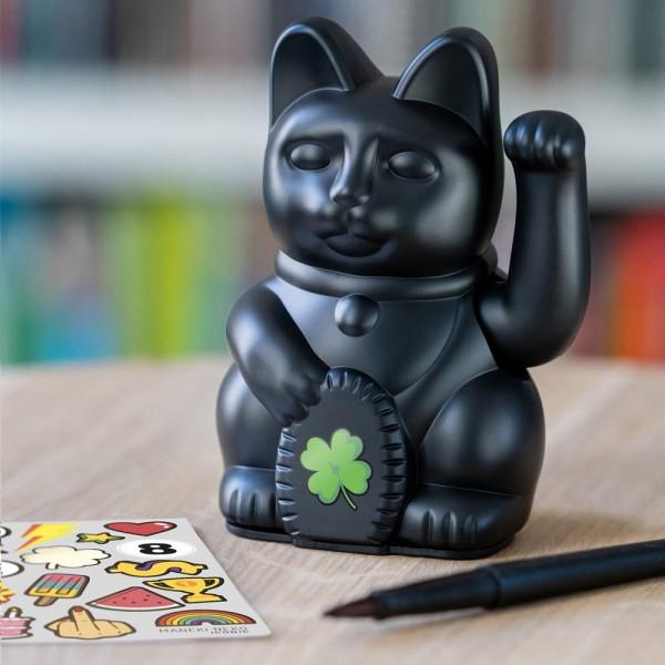 "Winkekatze ""Iconic Cat Schwarz"""