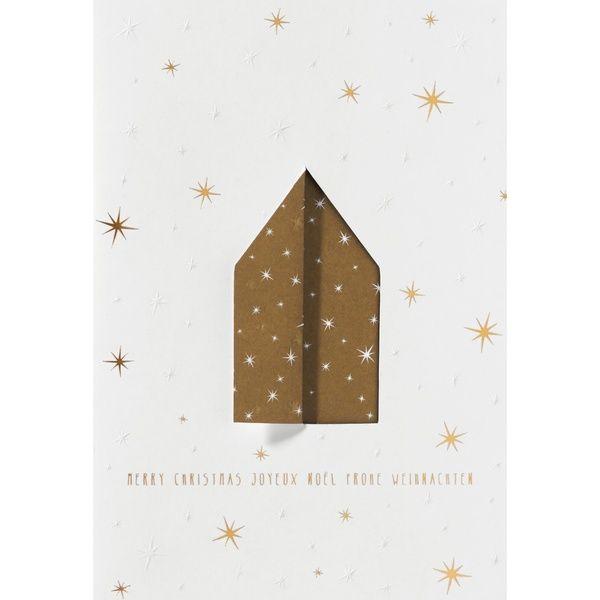 """Weihnachtsklappkarte """"Haus"""""""