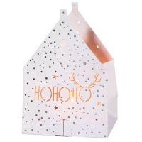 "Weihnachts Lichthauskarte ""HO HO HO"""