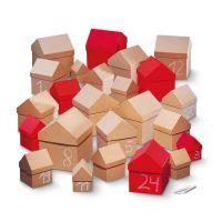 VILLAGE Adventskalender, Geschenkkarton 6 Stück rot