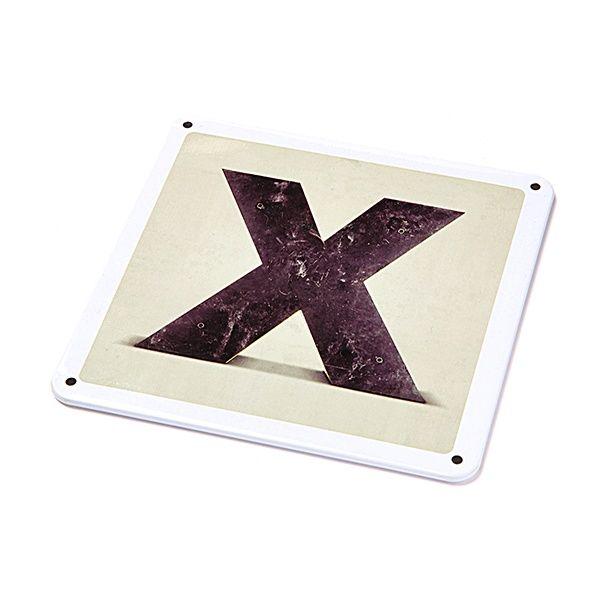 "Metallschild - ""X"""