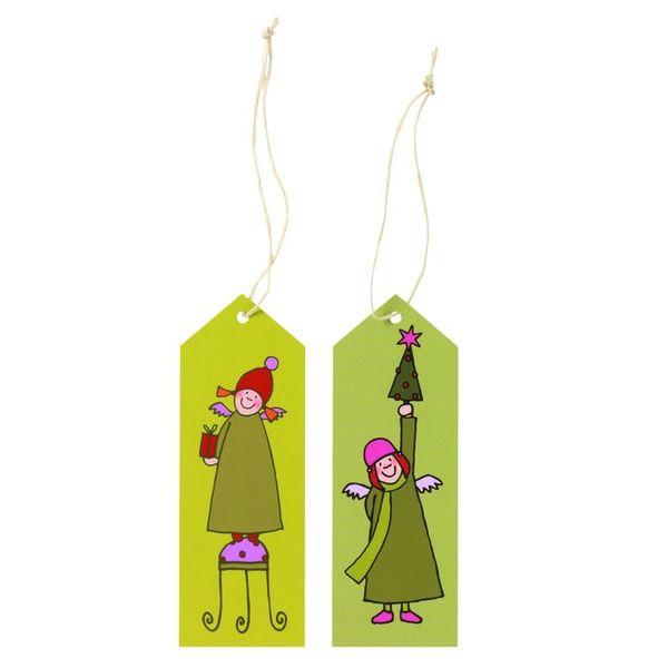 Himmlische Schwestern Geschenkanhänger Grün