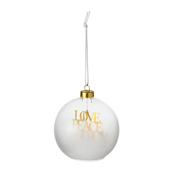 Weihnachtszauber Kugel Love Peace and Joy