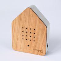 Zwitscherbox Holz -kirsche / weiß-