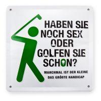"Metallschild ""Golf"" Offline App"