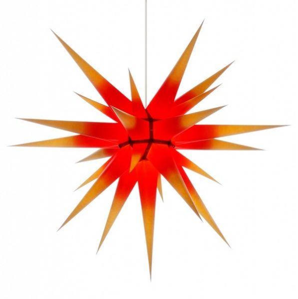 Herrnhuter Stern für Innen, Rot-Gelb 80 cm