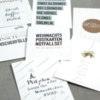 Weihnachts Postkarten Notfallset