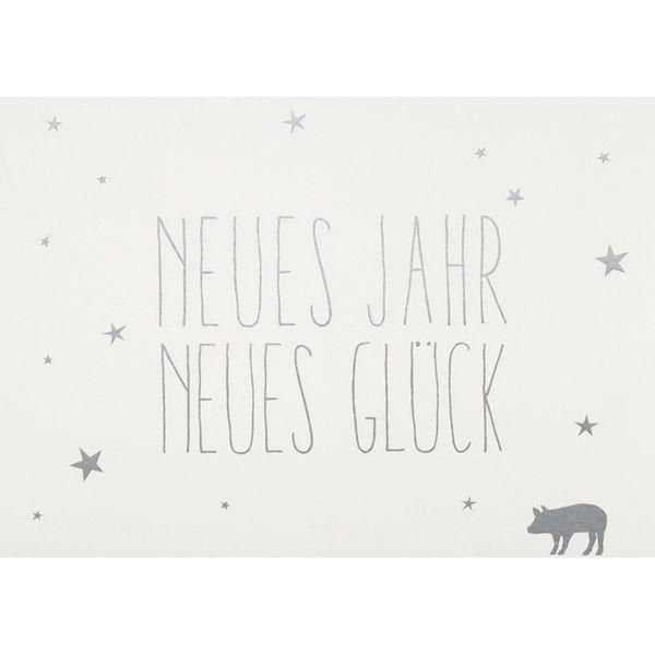 """Postkarte """"Neues Jahr. Neues Glück"""""""