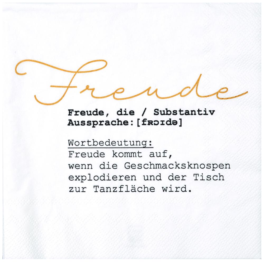 Ideen F303274r Weihnachtskarten.Servietten Freude
