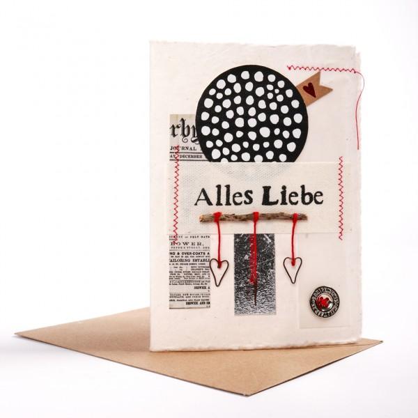 """Kunst Karte """"Alles Liebe"""""""