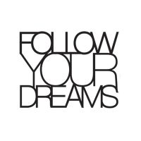 "Wandpoesie ""Follow your Dreams"""