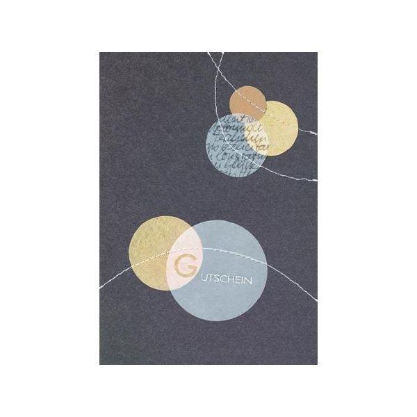"""Design Stitching Karte """"Goldene Kugeln / Gutschein"""""""