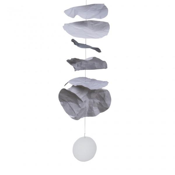 Kleine Papierkette, grau