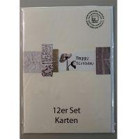 "Papierschnipsel Karte ""Flowers"" 12er Set"