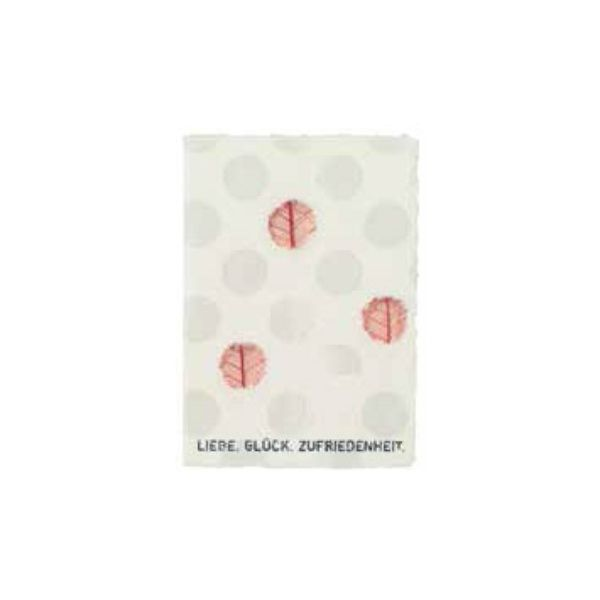 """Leaf Karte """"Liebe Glück Zufriedenheit"""""""