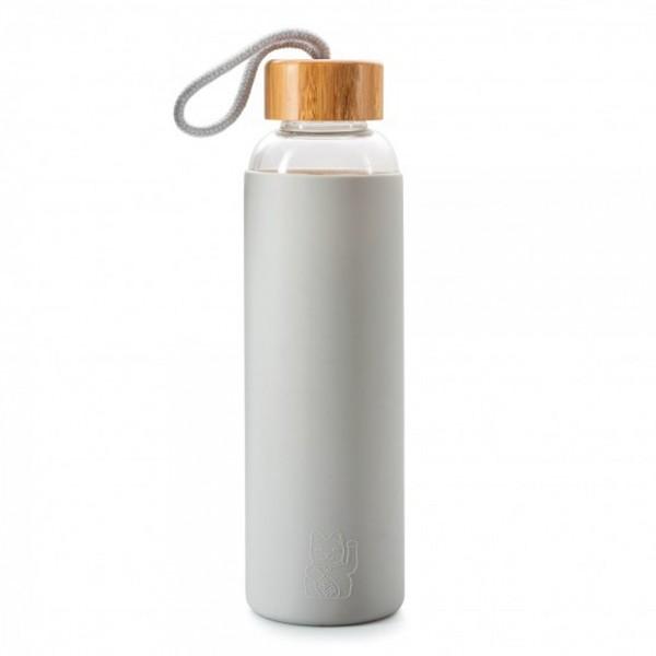 Maneki Neko Trinkflasche, grau