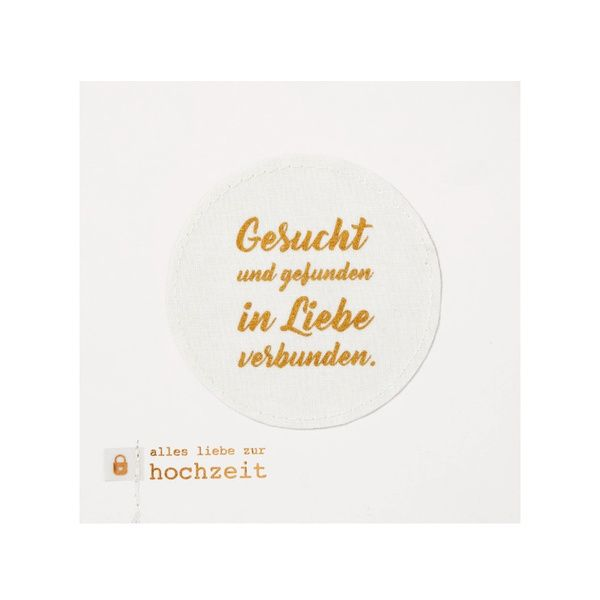 """Hochzeitskarte """"Gesucht und gefunden"""""""