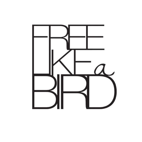"""Wandpoesie, klein """"Free like a Bird"""""""