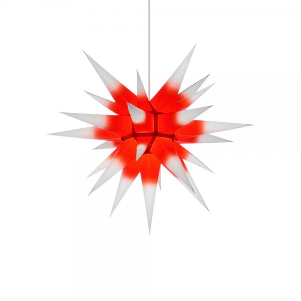 Weihnachtsstern für Innen, Roter Kern-Weiß 60 cm