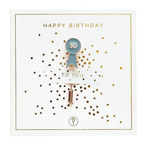 """Anstecknadel """"30 Happy Birthday"""""""