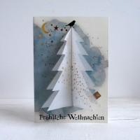 "Winter Baumkarte ""Transparentpapier"""