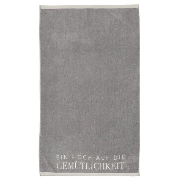 """Badetuch """"Gemütlichkeit"""", Grau"""