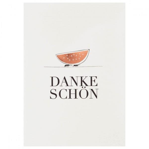 """Kleiner Gruß Karte """"Danke Schön"""""""