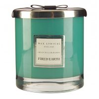 FIRED EARTH Collection - Duftkerze im Glas Green Tea & Bergamot 75 h