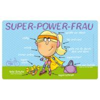 Einfach Super - Super Power-Frau - Frühstücksbrettchen