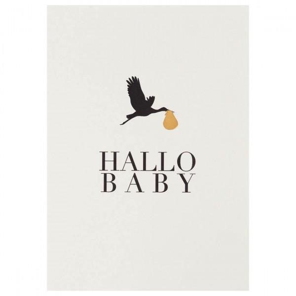 """Kleiner Gruß Karte """"Hallo Baby"""""""