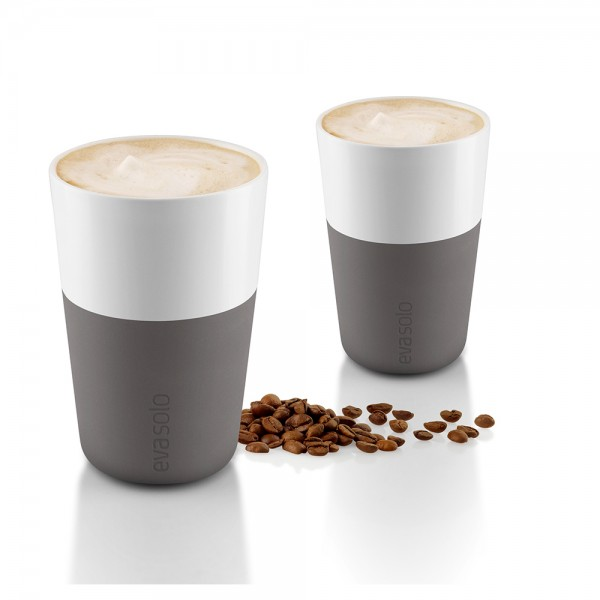 "2 Café Latte-Becher ""Grey"""