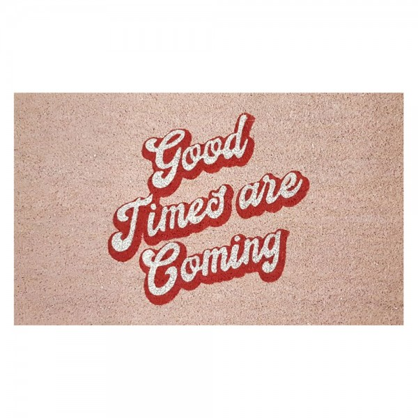 "Fussmatte ""GOOD TIMES"", rosa"