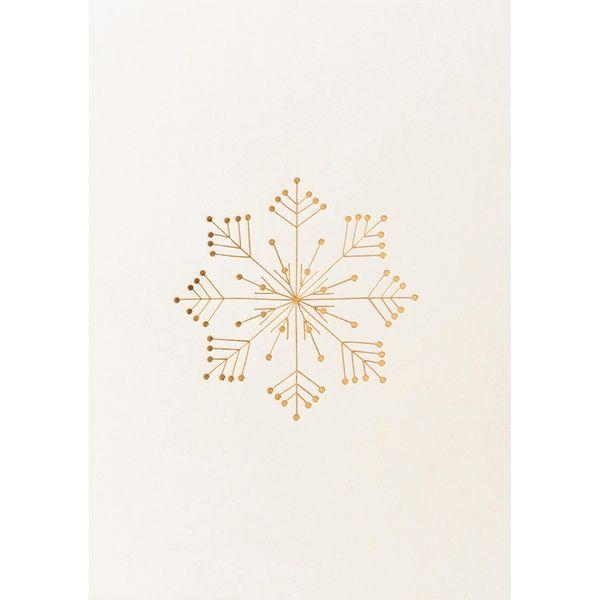 """Geschenke des Himmels - Postkarte """"Stern, silber/weiß"""""""