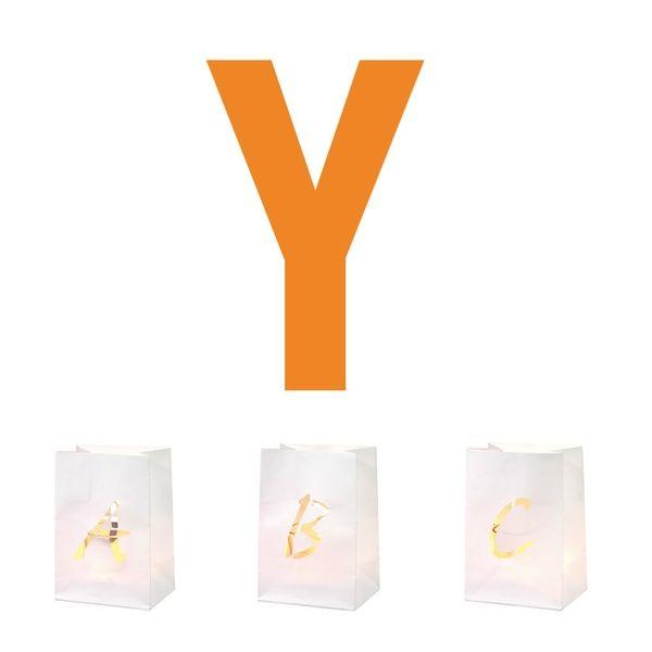 Buchstaben Lichttüte Y