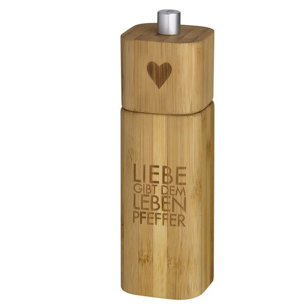 """Pfeffermühle """"Liebe gibt dem Leben Pfeffer"""""""