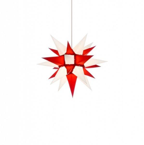 Herrnhuter Stern für Innen, i4 Roter Kern-Weiß 40 cm
