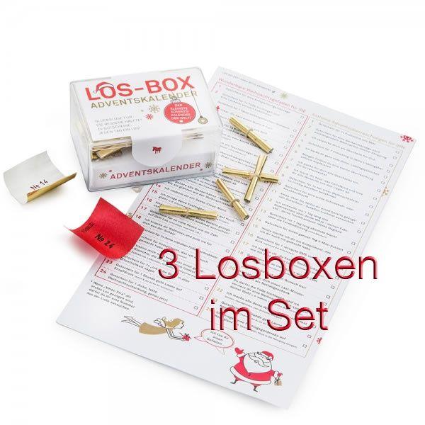 """Los-Box """"Adventskalender"""" 3er Set"""