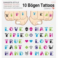 Style-Tattoo Gangsta 10er  Set