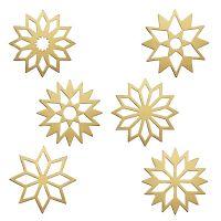 Tafelsterne Set, gold matt