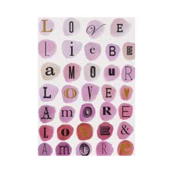 """Postkarte Buchstaben """"Liebe"""""""
