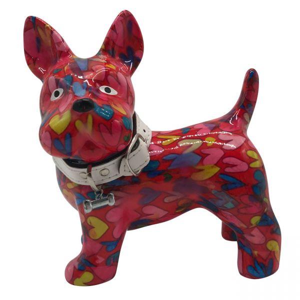 """Hund """"Boomer"""" M - Rosa mit Herzen"""