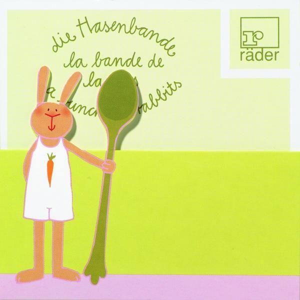 Hasenbande Tischkarte Rudi Rübe 100 x 6er Set (600 Stück)