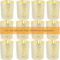 """Glanzlicht """"Weihnachtszeit"""", Gold 12er Set"""