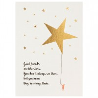 "Mein Lieblingsmensch Postkarte ""Good friends are like stars"""