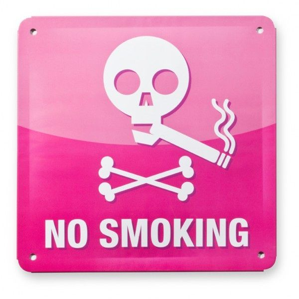 "Metallschild ""Smoke"" Offline App"