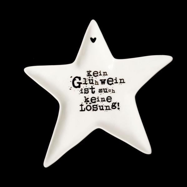 """Kleiner Sternenteller """"Kein Glühwein..."""""""
